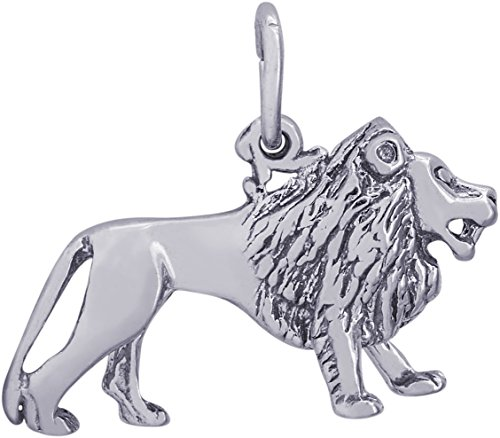 Rembrandt Charms 14K White Gold 3-D Lion Charm (23 x 14 mm) by Rembrandt Charms
