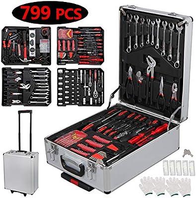F2C 799 Piezas Pro/Home DIY Mecánico Kit de Herramientas de Mano ...