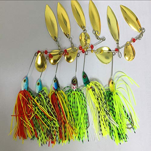 Fishing Lures - Value C 6Pcs/Bag Fishing Fake Hard Spinner Lure Spinnerbait Pike Bass SP009 (Best Spinnerbait For Pike)