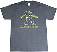And God Said Light Physics Science Math Funny Adult Mens Heather Black T-Shirt