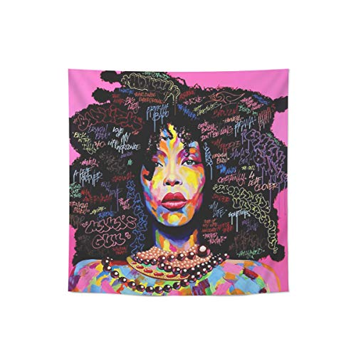 Queen Area Single Print Canvas Wall Art Face Painting African Women Home Decor Artwork Paint Picture Unframed, 24x24in
