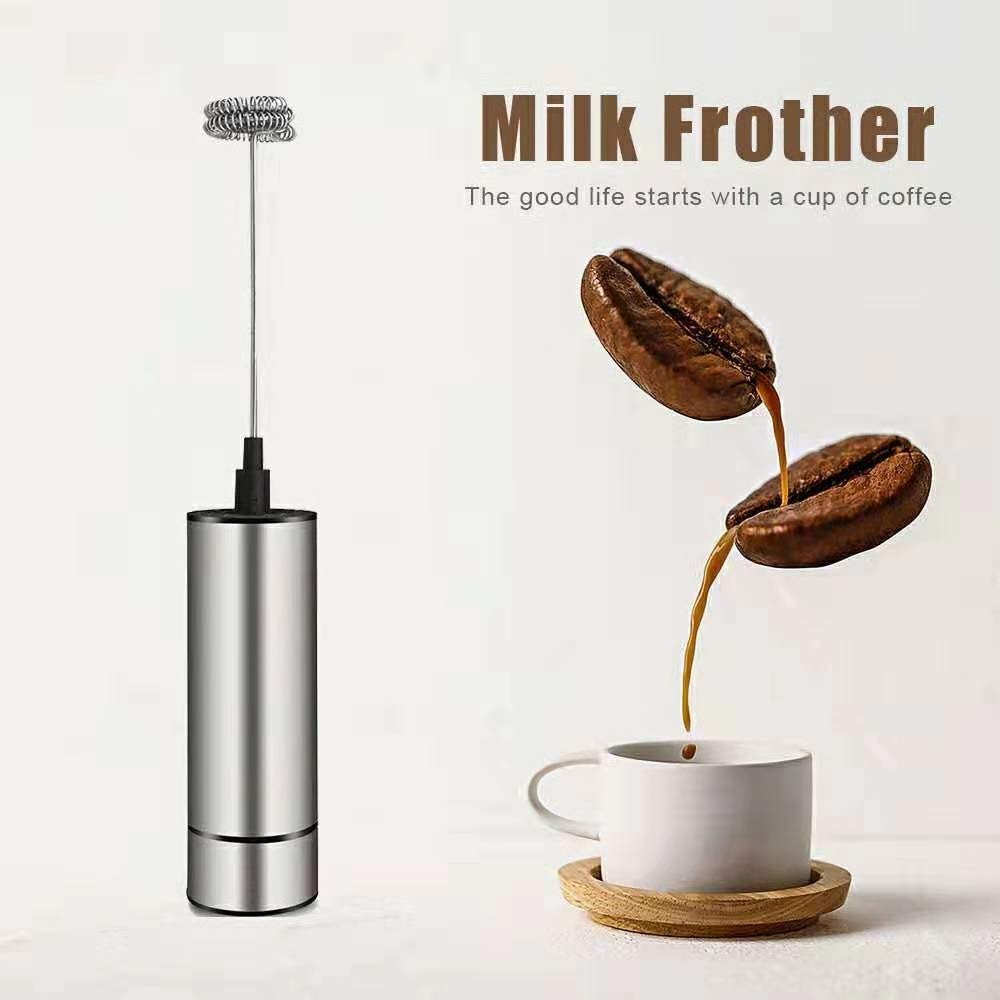 Milk Frother Handheld Electric, High Powered Coffee Frother, Milk Foamer for Latte, Cappuccino, Hot Chocolate, Frappe, Matcha, with Mini Triple Whisks
