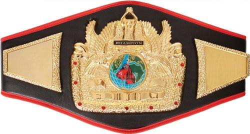 Costume Boxing Championship Belt (Flight Of Domination Title Belt, Black)