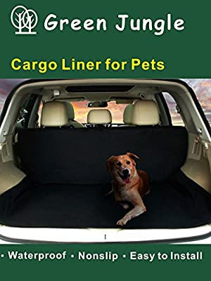 Deluxe SUV Cargo Liner For Pets - Waterproof, Nonslip, Machine Washable Car Seat Cover for Pets, Lifetime Warranty