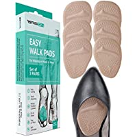 Ball of Foot Cushions High Heels - 3 Pairs (6 Pieces) - Soft Gel Insole Metatarsal Pads Shoe Inserts - Mortons Neuroma Callus Metatarsal Foot Pain Relief Bunion Forefoot Cushioning