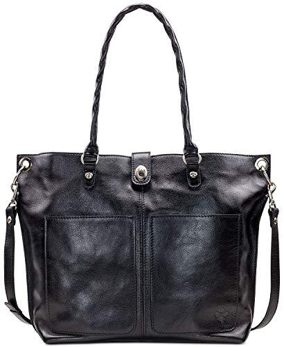 Patricia Nash Heritage Marseille Leather Tote (Black)