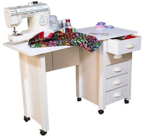 Venture Horizon Mobile Desk and Craft Center (white) (Mobile Venture)