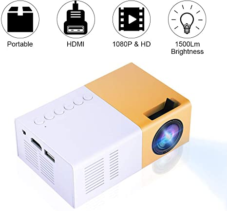 Proyector de Video portátil, Mini HD LED 4K TV Proyector de ...