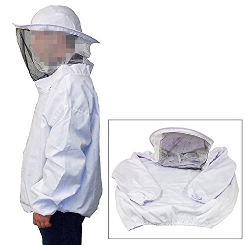 F.A.M.E Beekeeping Protective Jacket Veil Dress Suit With Pull Hat Smock Equipment White