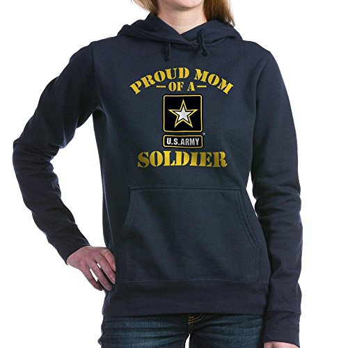 CafePress - Proud U.S. Army Mom Hooded Sweatshirt - Pullover Hoodie, Classic & Comfortable Hooded Sweatshirt Navy