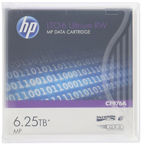 HP HEWC7976A LTO-6 Ultrium 6.25TB MP RW Data Cartridge, Model: HEWC7976A, Electronics & Accessories Store by Gadgets World