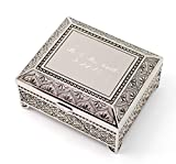 Newfavors Personalized Jewelry Box w/ 3 Lines Text Engraving Engraved 4 Deal