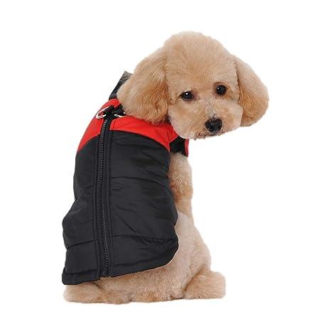 feiling Outdoor Chaleco para Perros pequeños Medianas y Grandes Step de en Cachorros Edredón Chaqueta Mascotas