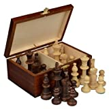 marble chess pieces Staunton No. 5 Tournament Chess Pieces w/ Wood Box by Wegiel