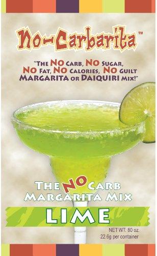 Low Carb Margarita (NoCarbarita Margarita Mix (Lime, 5 1 oz tubs))