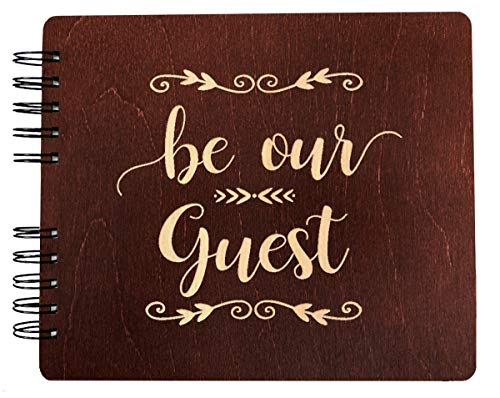 Weddings-by-StockingFactory Be Our Guest Rustic Wedding Wooden Guest Book (11x8.5 or 8.5