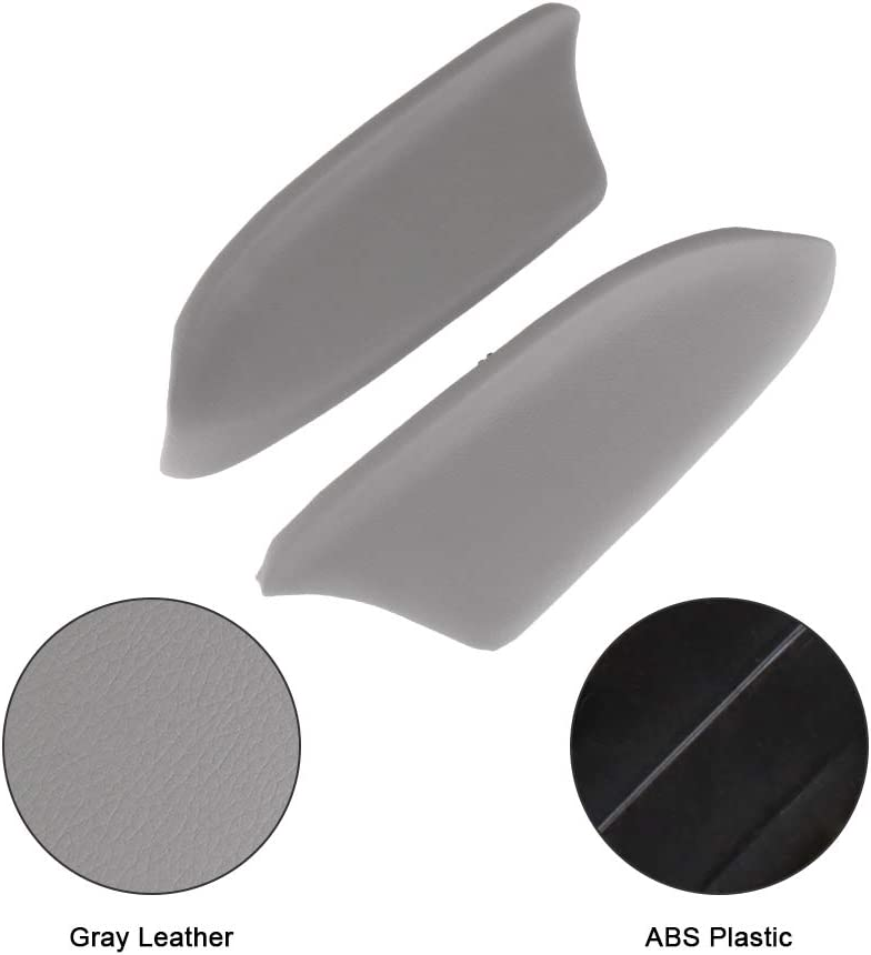 LUJUNTEC Front Door Panels Armrest fits 2008-2012 Honda Accord Door Armrest Grey 2PCS