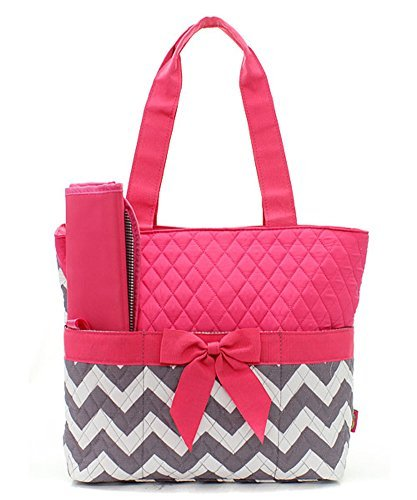 Quilted Diaper Bag Tote - 5