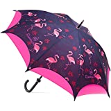Pink Large Windproof Umbrella Stick - Automatic Open - Strong - Double Canopy
