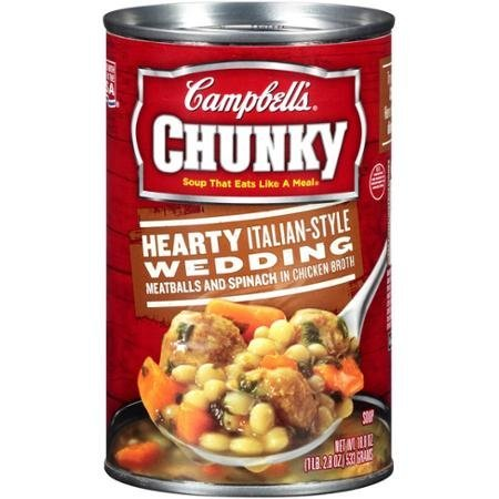 Campbell#039s Chunky Hearty Italian Style Wedding Soup 188 Oz Pack of 3 by Campbell#039s