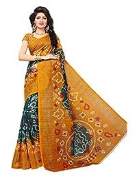 Shonaya. Women's Indian Printed Bhagalpuri Art Silk Saree Sari