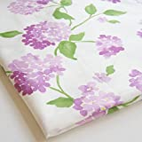 Np Fabric Sweet Violet Purple Lavender Flower Hydrangea Spring Bunch of Floral on White Fabric 36 by 36-Inch Wide (1 Yard) (CT149)