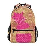 ZOEO Laptop Backpacks Pineapple Mermaid Girls Travel Daypack Purse Bag for Women
