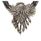 Heidi Daus 3-Row Beaded SWAROVSKI Crystal Swan Necklace ~Graceful Beauty