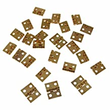 20PCS/LOT 108MM MINI Tiny Brass Hinge With Nails Jewelry Chest Gift Wine Music Box Dollhouse by Home&Gardan