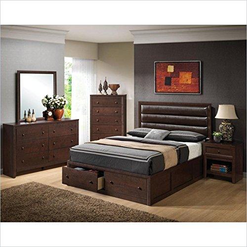 Coaster Serenity 6 Piece Bedroom Set in Rich Merlot Finish -