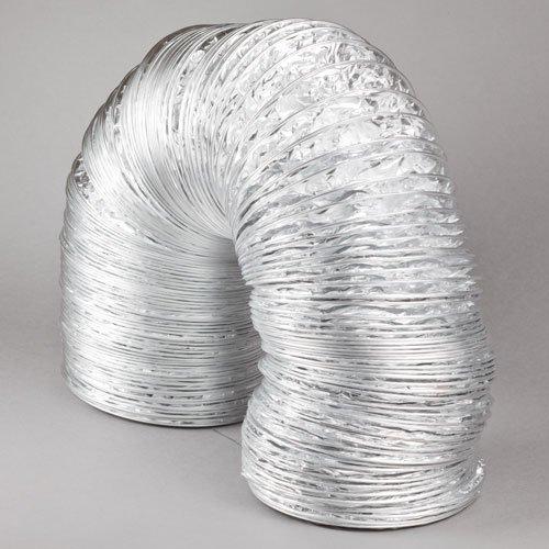 Blauberg UK BLAUFLEX AF MO/102/10 Aluminium Flexible Ducting for Extractor Fan, Bathroom, Kitchen, Toilet, Domestic Ventilation, Hydroponics Grow Room Tent Filter, Silver, 4'/100mm Dia-10m Long 4/100mm Dia-10m Long
