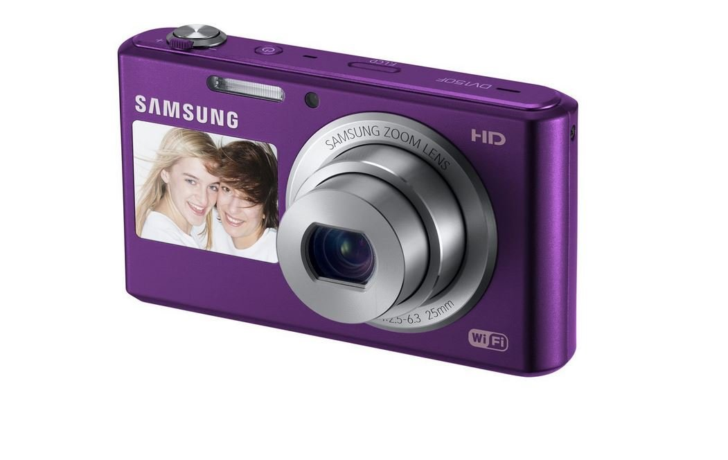 Samsung DV150F 16.2MP Smart WiFi  Digital Camera with 5x Optical Zoom and 2.7'' front and 1.5'' rear Dual LCD Screens (Purple) (OLD MODEL) by Samsung