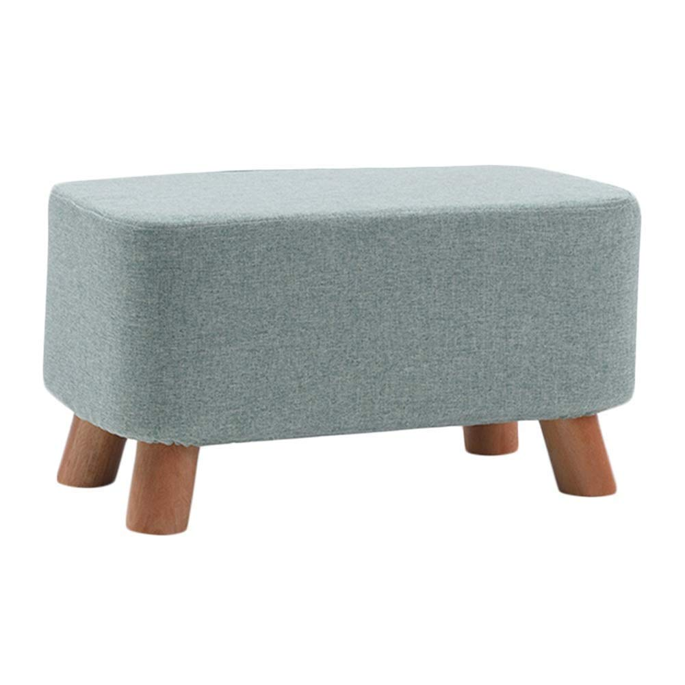 C 50x28x25cm Footstool Solid Wood Multifunction Rectangle Cloth Change shoes Bench Household Low Stool, 5 colors 3 Sizes GFMING (color   A, Size   80x28x25cm)