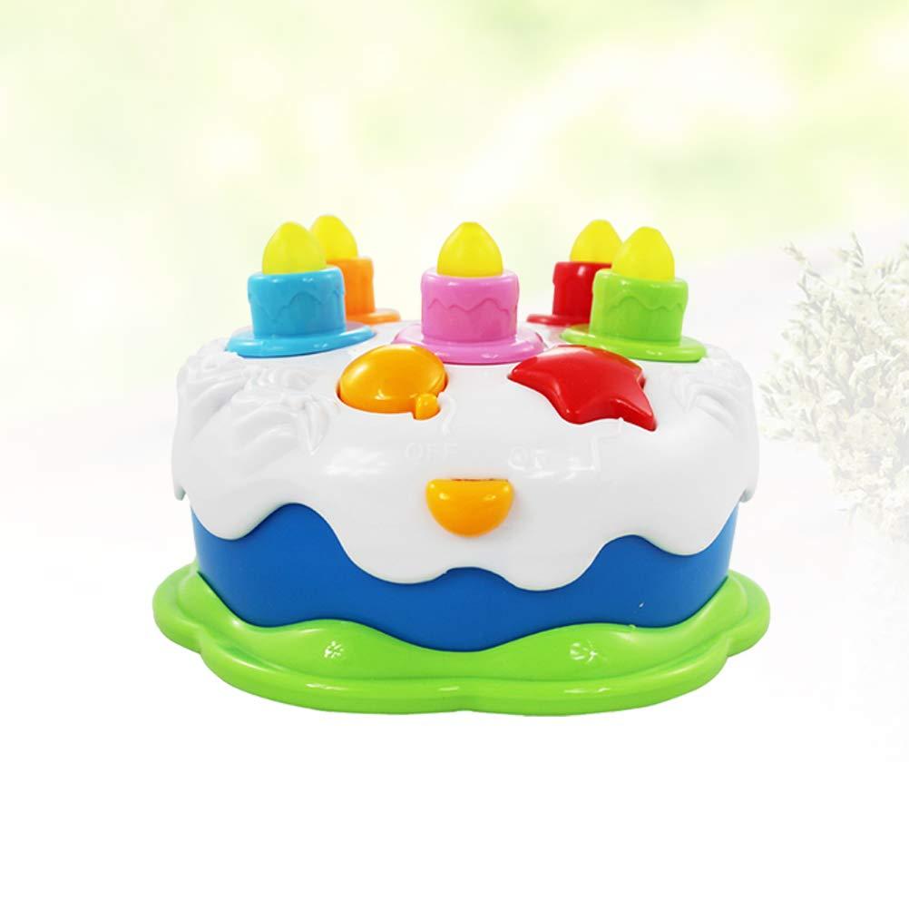 STOBOK Juguete para Tarta de cumpleaños para niños con Velas ...