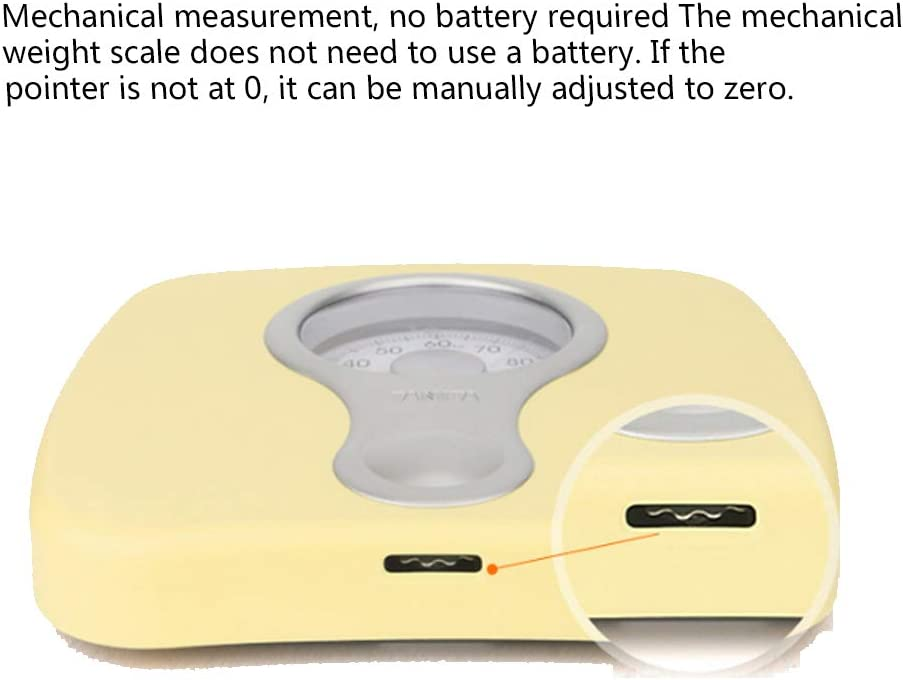 Mechanical scales, human scales, household health scales, spring scales, adopt circular arc design, which is more user-friendly and has no scratches or deformation C