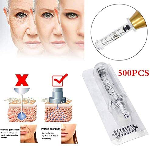 Ampoule Head Hylauronic Acid Injection Pen Restore Skin Elasticity 0.3Ml Disposable Sterile Beauty Accessories for Wrinkle Removal Skin Care,500PCS