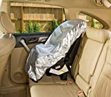 : Car Seat Sun Shade Cover - Keep Your Baby's Carseat at a Cooler Temperature - Covers and Blocks Out Heat & Sun - More Comfortable for Baby or Child - Protection from UV Sunlight - Mommy's Helper