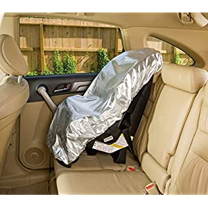 Car Seat Sun Shade Cover – Keep Your Baby's Carseat at a Cooler Temperature – Covers and Blocks Out Heat & Sun – More…