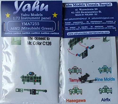 Yahu Model 1:72 A6M2 Mitsubishi Green Inst Panel for Tam FM Has Airfix #YMA7255 (Inst Panel)