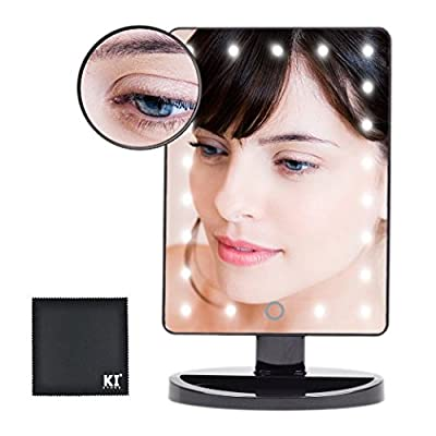 Beautify Beauties Rectangular shaped rotatable make up mirror with battery operated LED lights