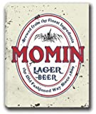 MOMIN Lager Beer Stretched Canvas Sign 24