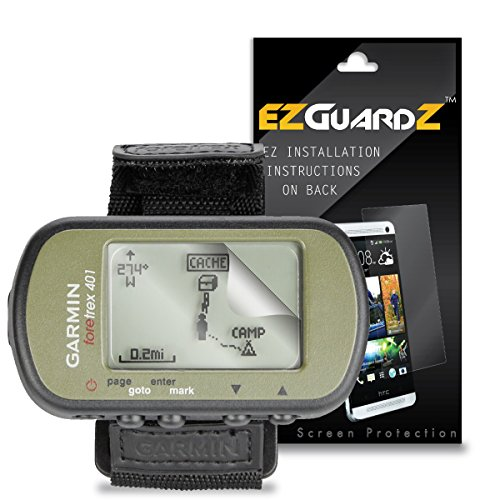 EZGuardZ Screen Protector for Garmin Foretrex 401 (Ultra Clear)