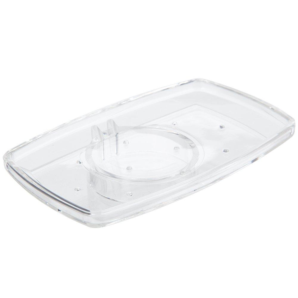 Luxury Bathroom Soap Dish for Shower Riser Rails Transparent: Amazon ...