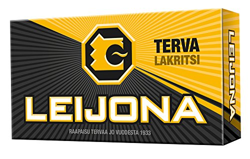 4 Boxes x 32g of Leaf Leijona Lakritsi - Tervalakritsi - Original - Finnish - Licorice - Pastilles - Lozenges - Drops - Dragees - Candies - Sweets
