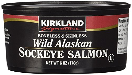 Kirkland Signature Wild Alaskan Sockeye Salmon, 6oz, Pack of 3