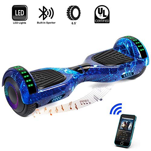 CBD 6.5″ Bluetooth Hoverboard for Kids, Two Wheels Self-Balancing Scooter, Hoverboard with Bluetooth Speaker and LED Lights, UL2272 Certified Hover Board(Ultimate Series – Star Blue)