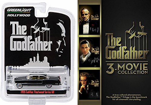 The Godfather 3-movie Collection DVD & 1955 CADILLAC FLEETWOOD from the classic film THE GODFATHER Mob Crime Trilogy Coppola Movie Set
