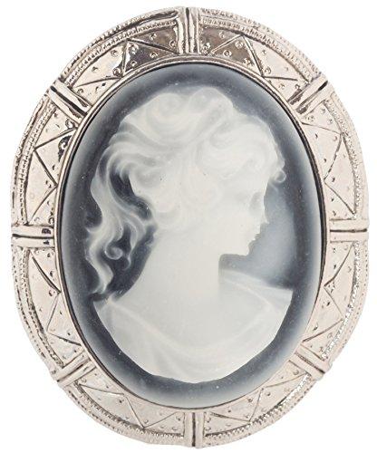 Artisan Owl Victorian Vintage Design Cameo Enamel Brooch Pin 2