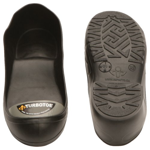 Impacto Turbotoe - Protector flexible con punta de acero para zapatos, tamaño XS, color gris