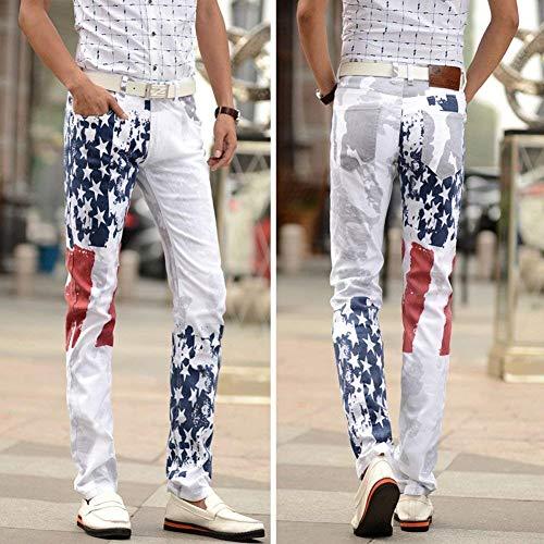 Classiche Jeans Uomo Colour Pantaloni Comodi Stretch Ufig Gamba Con Bandiera Dritta Denim Stampa In Slim Casual Fit Stella Ragazzi SIwrvSUq